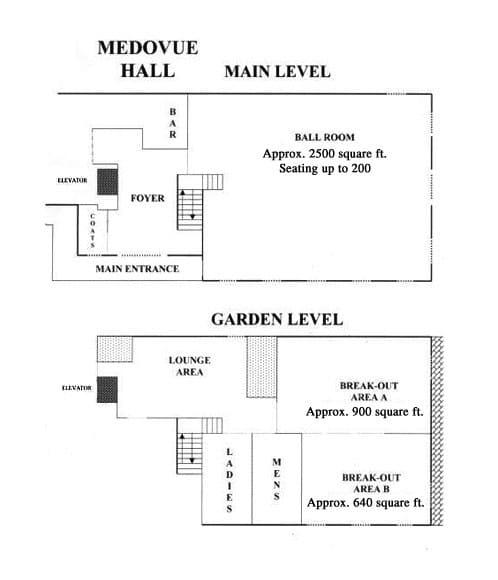 Medovue Hall Floor Plan
