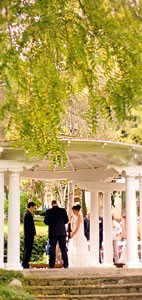 Wedding ceremony at our Lansing wedding venue