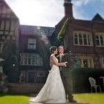 Wedding Couple outside The English Inn