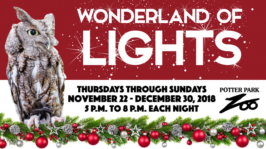 Potter Park Zoo Wonderland of Lights 2018