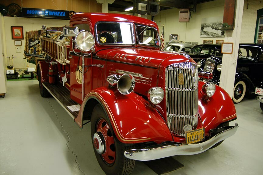 1938 REO Speedwagon Fire Truck at the R.E. Olds Transportation Museum