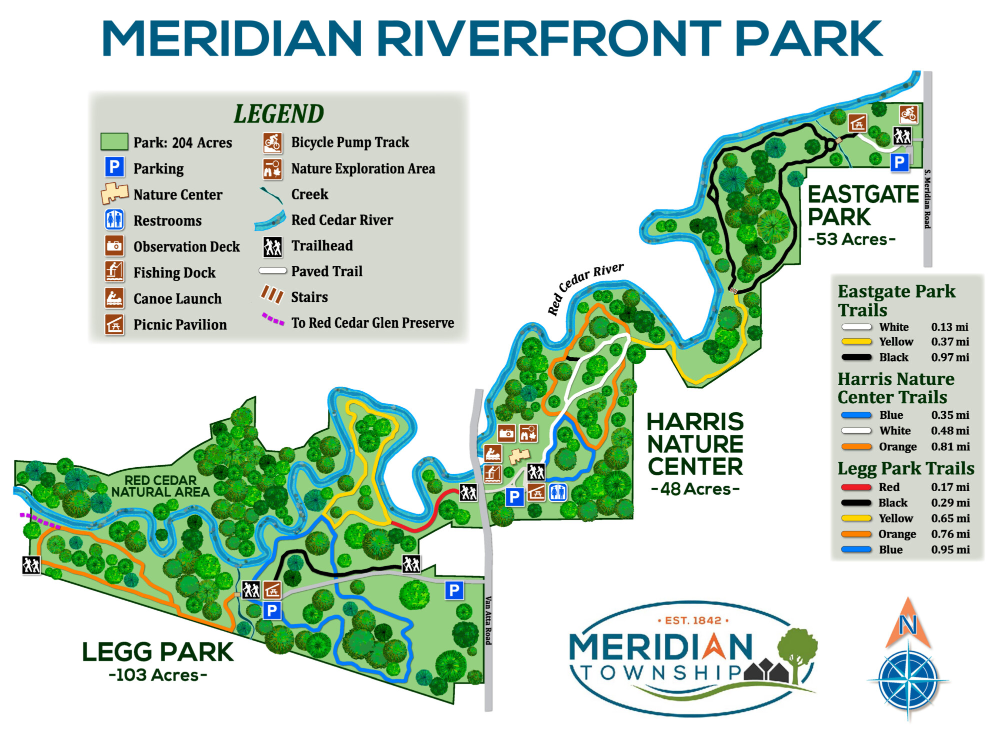 Meridian Riverfront Park Map