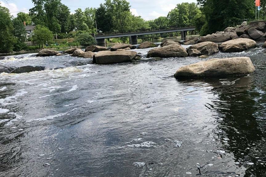 Mill Pointe Park rapids in Eaton Rapids