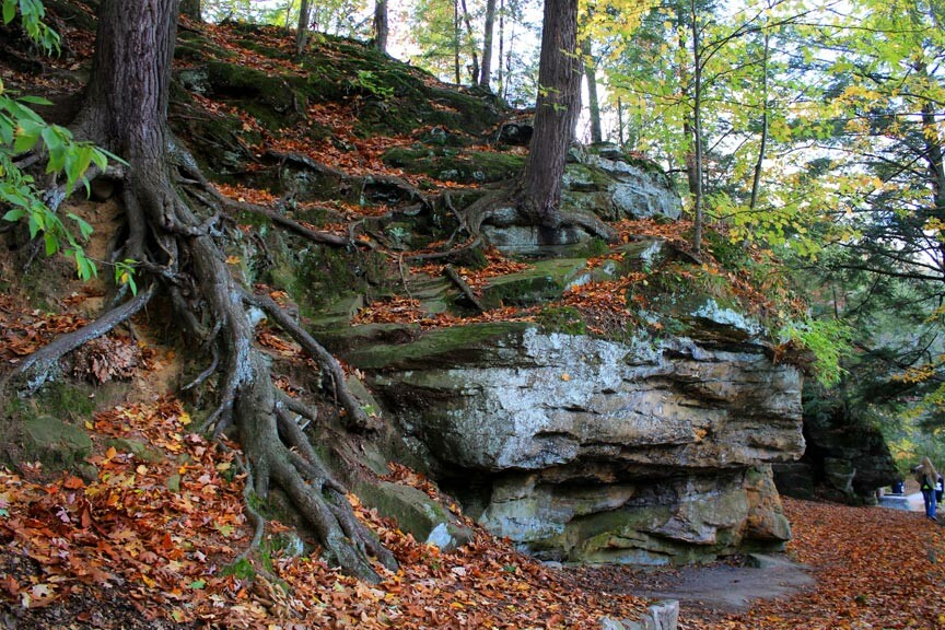 The Ledges at Fitzgerald Park in fall
