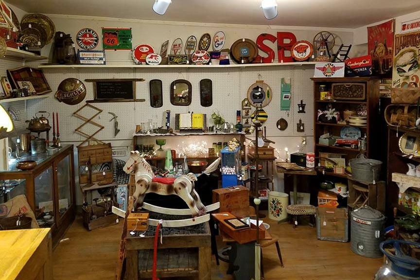 Mason antique shop display