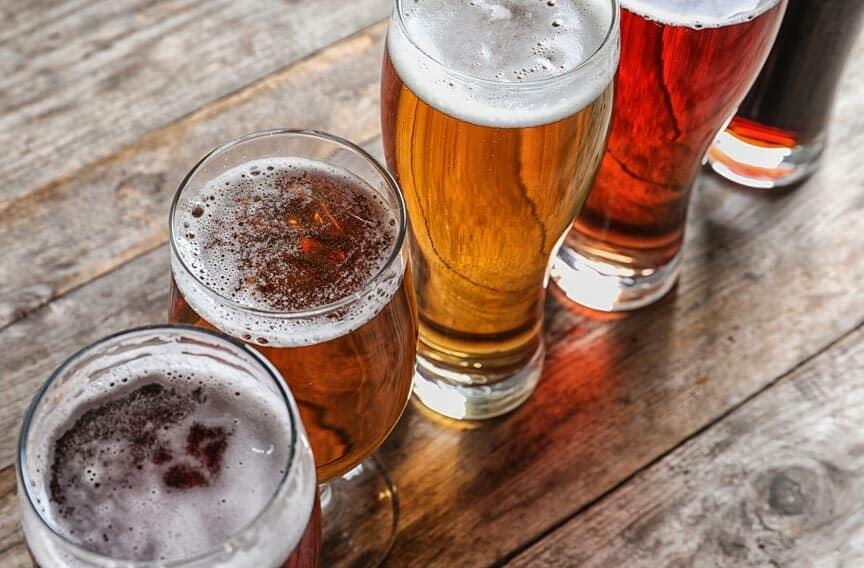 Lansing craft beer flight