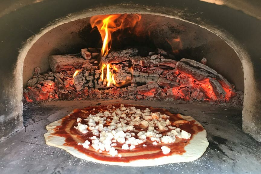 Le Chat Gourmet wood fired pizza